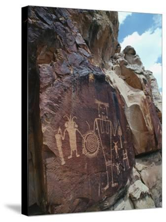 Petroglyphs-Jeff Foott-Stretched Canvas Print