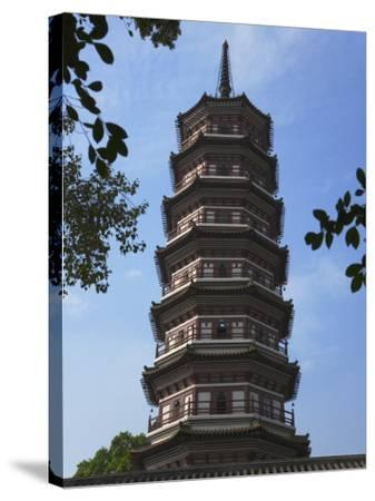 China, Guangdong Province, Guangzhou, Flower Pagoda in Liurong Temple-Keren Su-Stretched Canvas Print