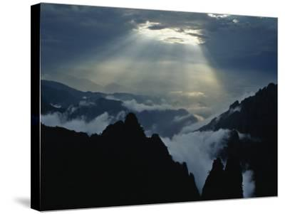 China, Anhui Province, Mt-Keren Su-Stretched Canvas Print