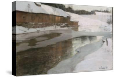 Une fabrique en Norvège-Fritz Thaulow-Stretched Canvas Print