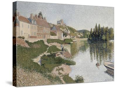 Les Andelys, la berge-Paul Signac-Stretched Canvas Print