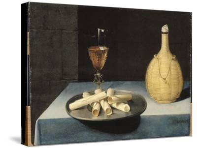 Le dessert de gaufrettes-Lubin Baugin-Stretched Canvas Print