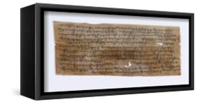 Dix-huit fragments de manuscrit en tibétain et en sanscrit--Framed Stretched Canvas Print