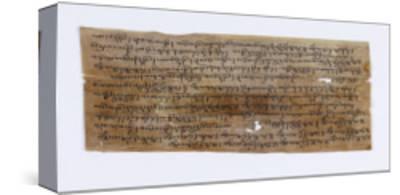 Dix-huit fragments de manuscrit en tibétain et en sanscrit--Stretched Canvas Print