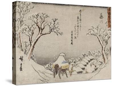 Fujikawa-Ando Hiroshige-Stretched Canvas Print