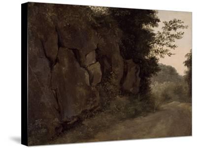 Environs de Nemi : rochers-Pierre Henri de Valenciennes-Stretched Canvas Print
