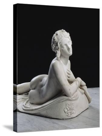 Bacchante au repos dite aussi Dircé-Lorenzo Bartolini-Stretched Canvas Print