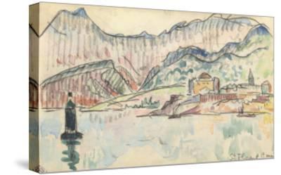 Carnet : Vue de saint Florent-Paul Signac-Stretched Canvas Print
