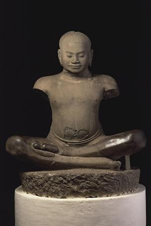 Jayavarman VII--Stretched Canvas Print