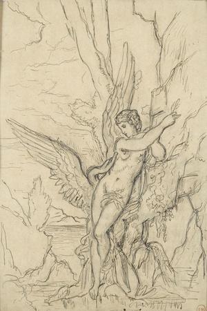 Léda-Gustave Moreau-Stretched Canvas Print