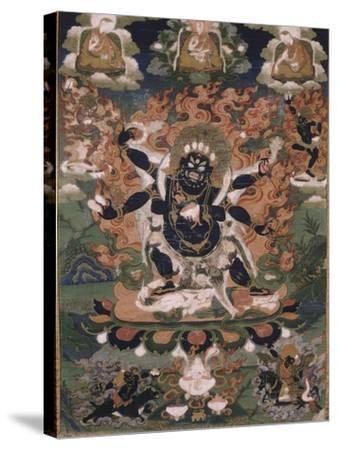 Mahâkâla, sous son aspect Sadbhuja--Stretched Canvas Print