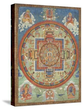 Mandala de Sitâtapatrâ--Stretched Canvas Print