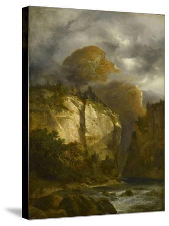 Paysage montagneux-Alexandre Calame-Stretched Canvas Print