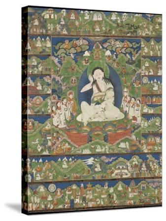 Mi-la ras-pa (1040-1123) (Milarepa)--Stretched Canvas Print