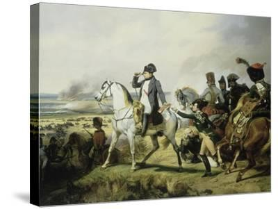 Napoléon Ier à la bataille de Wagram, 6 juillet 1809 (il est accompagné du général Bessières)-Horace Vernet-Stretched Canvas Print