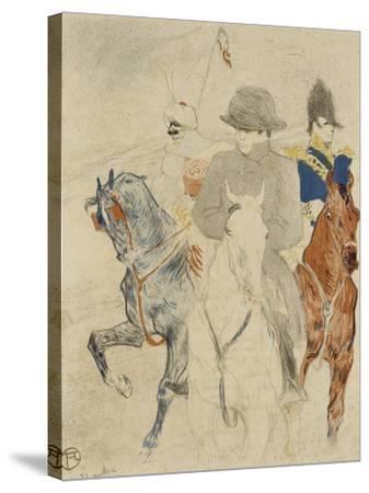 Napoléon Ier à cheval-Henri de Toulouse-Lautrec-Stretched Canvas Print