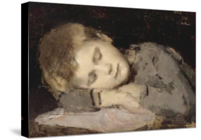 Paul Henner endormi-Jean Jacques Henner-Stretched Canvas Print