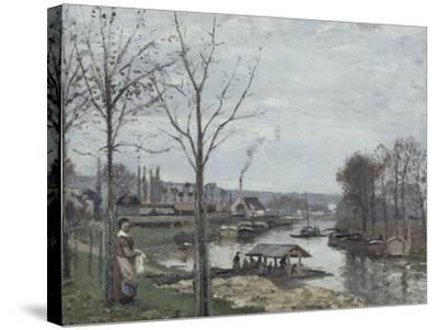 Port-Marly, le lavoir dit à tort le lavoir, Pontoise-Camille Pissarro-Stretched Canvas Print
