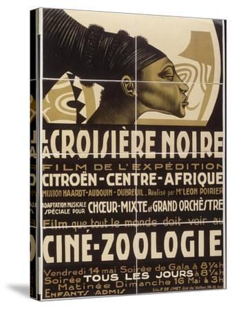 Affiche : La croisière noire, film de l'exposition Citroën-Centre-Afrique--Stretched Canvas Print