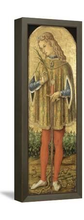 Saint Julien-Vittore Crivelli-Framed Stretched Canvas Print