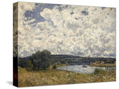 la Seine à Suresnes (Hauts de Seine)-Alfred Sisley-Stretched Canvas Print