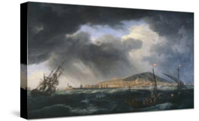 Port de Sète-Claude Joseph Vernet-Stretched Canvas Print