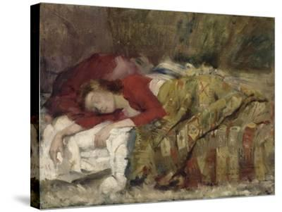Jeune femme endormie-Lovis Corinth-Stretched Canvas Print