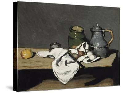Nature morte à la bouilloire-Paul C?zanne-Stretched Canvas Print