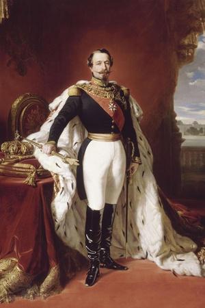 L'empereur Napoléon III (1808-1873) en pied-Franz Xaver Winterhalter-Stretched Canvas Print