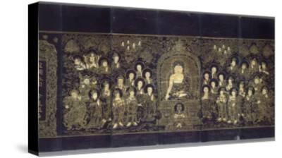 Le Sutra du Lotus (en chinois)--Stretched Canvas Print