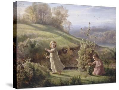 Le Poème de l'âme. Le printemps-Louis Janmot-Stretched Canvas Print