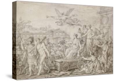 Triomphe de la Constitution de 1793-Joseph Marie Vien-Stretched Canvas Print