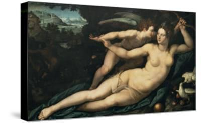 Vénus et l'Amour-Alessandro Allori-Stretched Canvas Print