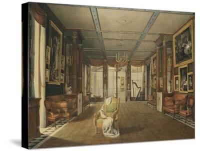 Vue de Salon de musique de Joséphine-Auguste Garneray-Stretched Canvas Print