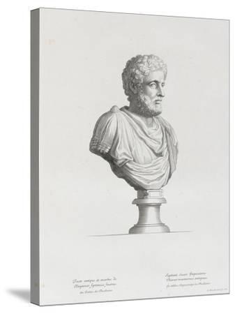 Tableau du Cabinet du Roi, statues et bustes antiques des Maisons Royales Tome II : planche 32-Etienne Baudet-Stretched Canvas Print