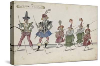 Album ; Ballet de la Douairière de Billebahaut et Ballet des fées des forêts de Saint Germain-Daniel Rabel-Stretched Canvas Print