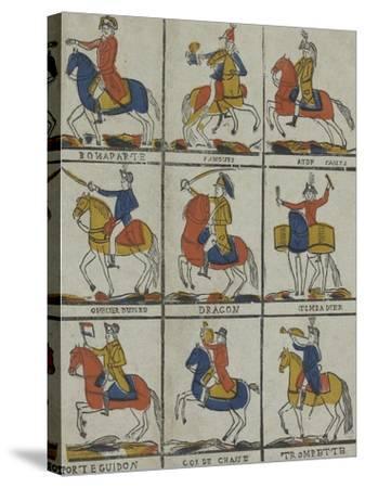 Bonaparte, panour, aide camp, officier hussard, dragon timbalier, porte guidon, cor de chasse,--Stretched Canvas Print