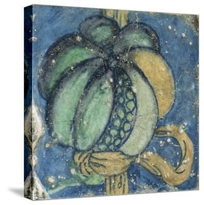 1er pavement aux armes du connétable Anne de Montmorency et de sa femme Madeleine de Savoie--Stretched Canvas Print
