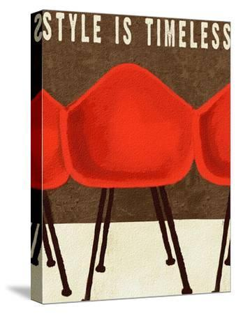 Style is Timeless Midcentury Chairs-Lisa Weedn-Stretched Canvas Print