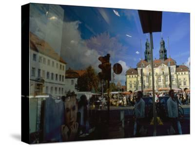 A Window Reflection of Luneburg's Town Hall-Sisse Brimberg-Stretched Canvas Print