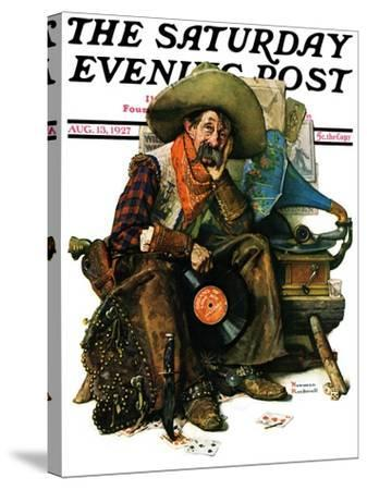 """""""Dreams of Long Ago"""" Saturday Evening Post Cover, August 13,1927-Norman Rockwell-Stretched Canvas Print"""