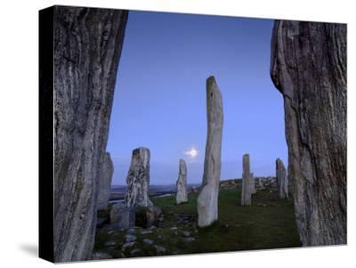 The Callanish Stones at Moonrise-Jim Richardson-Stretched Canvas Print