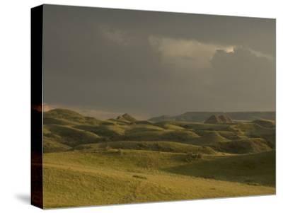 Thunderclouds Gather Above Little Missouri National Grasslands-Phil Schermeister-Stretched Canvas Print