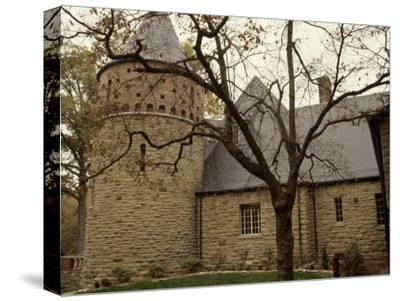 A Stone Building on the Ground of Audubon State Park-Raymond Gehman-Stretched Canvas Print