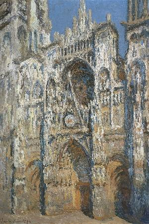 Rouen Cathedral, the Portal and the Tower of Saint-Romain, Morning Effect, Harmony in White-Claude Monet-Stretched Canvas Print