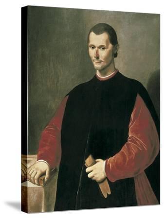 Portrait of Niccolo Machiavelli-Santi Di Tito-Stretched Canvas Print