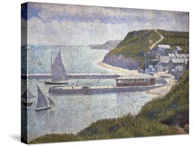 Harbour at Port-En-Bessin at High Tide-Georges Seurat-Stretched Canvas Print