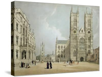 Westminster Abbey and Hospital, from 'London as it Is', Engraved and Published by the Artist, 1842-Thomas Shotter Boys-Stretched Canvas Print