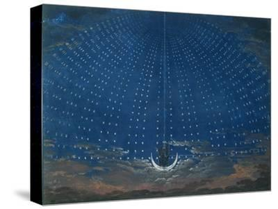 The Palace of the Queen of the Night, Set Design for 'The Magic Flute' by Wolfgang Amadeus Mozart-Schinkel-Stretched Canvas Print
