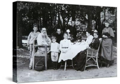 Family Portrait of the Author Leo N. Tolstoy, from the Studio of Scherer, Nabholz and Co.-Russian Photographer-Stretched Canvas Print